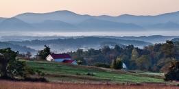 Farmhouse View of the Blue Ridge