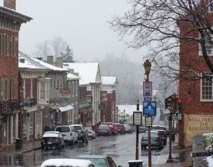 Spring Snow on Main Street