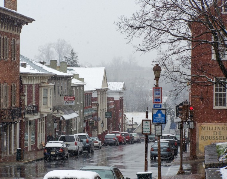 Spring Snow on Main Street