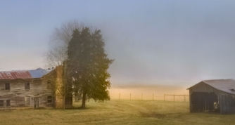 Old Farmhouse at Dawn