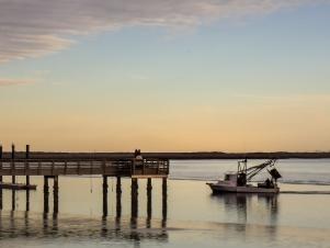 Awaiting the Shrimp Boat